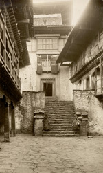 Interior of second court: Angduphorang [Wangdue Phodrang, Bhutan]